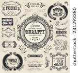 floral labels in vintage style. ... | Shutterstock .eps vector #231293380