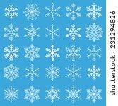 christmas white snowflakes on... | Shutterstock .eps vector #231294826