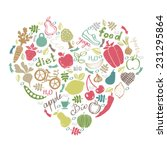 healthy lifestyle icons design. ... | Shutterstock .eps vector #231295864
