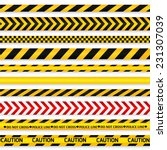yellow with black police line... | Shutterstock .eps vector #231307039