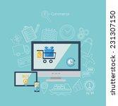 line design poster  concept... | Shutterstock .eps vector #231307150