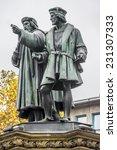 the johannes gutenberg monument ... | Shutterstock . vector #231307333