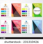 set of flyer  brochure design... | Shutterstock .eps vector #231310426