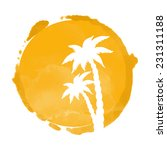 watercolor circle paint stain... | Shutterstock .eps vector #231311188