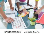 young creative team having a... | Shutterstock . vector #231315673