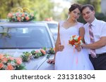 bride and groom at a wedding in ... | Shutterstock . vector #231318304