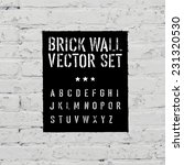 brick traced texture  stencil... | Shutterstock .eps vector #231320530