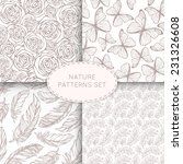 4 Nature Seamless Patterns Set...