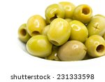 Olives In A Plate Isolated On ...
