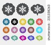 snowflake icon | Shutterstock .eps vector #231338263