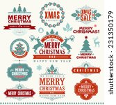 christmas typographic and... | Shutterstock .eps vector #231350179