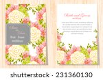 wedding invitation cards with... | Shutterstock .eps vector #231360130
