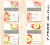 wedding invitation cards with... | Shutterstock .eps vector #231360133