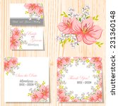 wedding invitation cards with... | Shutterstock .eps vector #231360148