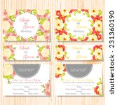 wedding invitation cards with... | Shutterstock .eps vector #231360190