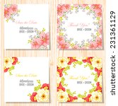 wedding invitation cards with...   Shutterstock .eps vector #231361129