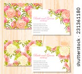 wedding invitation cards with... | Shutterstock .eps vector #231361180