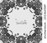 vecor design card with floral... | Shutterstock .eps vector #231363589
