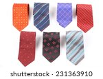 colorful ties isolated on white ... | Shutterstock . vector #231363910
