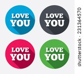 love you sign icon. valentines... | Shutterstock . vector #231364570