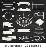 set of blank retro vintage... | Shutterstock .eps vector #231365653