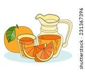 fresh orange juice   Shutterstock .eps vector #231367396