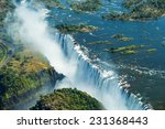 the victoria falls is the... | Shutterstock . vector #231368443