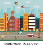 big city street. | Shutterstock . vector #231372454