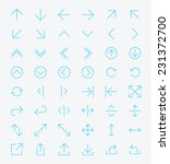 line arrow icon set   vector | Shutterstock .eps vector #231372700