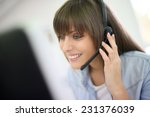 customer service representative ... | Shutterstock . vector #231376039
