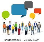 multiethnic diverse people with ... | Shutterstock . vector #231376624