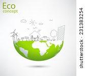 creative drawing world map... | Shutterstock .eps vector #231383254