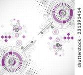 abstract technology business... | Shutterstock .eps vector #231391414