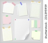 post it set of realistic sticky ... | Shutterstock .eps vector #231395959