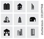vector building icons set on... | Shutterstock .eps vector #231397948