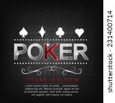 poker vector illustration on a... | Shutterstock .eps vector #231400714