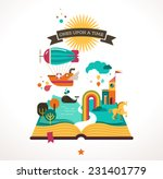 open book with set of vector... | Shutterstock .eps vector #231401779