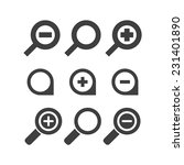 vector magnifier glass and zoom ... | Shutterstock .eps vector #231401890
