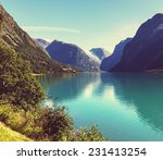 mountain lake   Shutterstock . vector #231413254