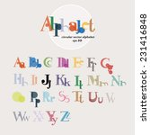 colorful alphabet.vector. | Shutterstock .eps vector #231416848