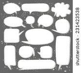 set of white speech bubbles on... | Shutterstock .eps vector #231423538