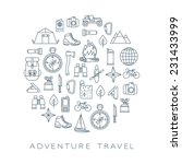 adventure travel round card | Shutterstock .eps vector #231433999