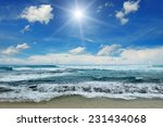 Sun Over Sea And Blue Sky