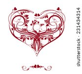 happy valentines day card... | Shutterstock .eps vector #231434314