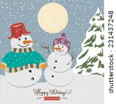 vintage christmas poster with... | Shutterstock .eps vector #231437248