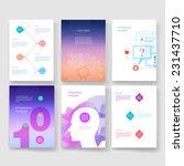 vector brochure design... | Shutterstock .eps vector #231437710