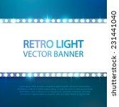 shining retro light banner.... | Shutterstock .eps vector #231441040