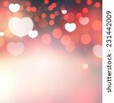 shining heart bokeh background. ...   Shutterstock .eps vector #231442009