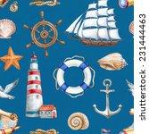 seamless nautical pattern | Shutterstock . vector #231444463