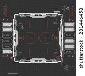 futuristic graphic user... | Shutterstock .eps vector #231446458